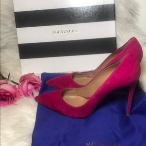 Aquazzura Simply Irresistible Suede Pump 105